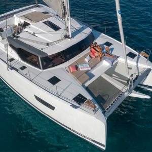 Plano Fountaine Pajot Astrea 42 Catamarán Alquiler en Ibiza