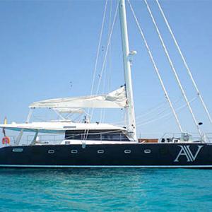 Navegando Sunreef 62 Catamarán Alquiler en Ibiza