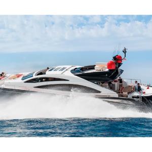 Navegando Sunseeker Predator 84 Lancha Alquiler en Ibiza
