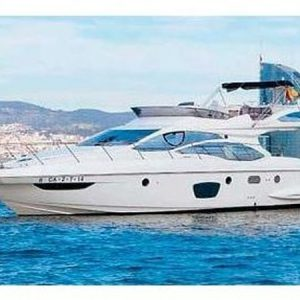 Navegando Azimut 47 Fly Lancha Alquiler en Ibiza