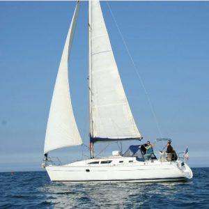 Navegando Jeanneau Sun Odyssey 37 Velero Alquiler en Ibiza