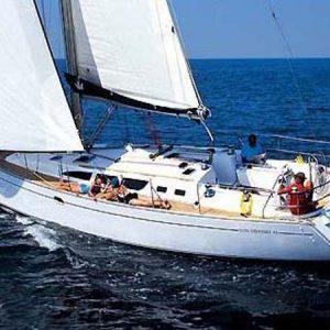 Navegando Jeanneau Sun Odyssey 43 Velero Alquiler en Ibiza