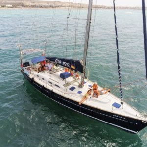 Exterior Oceanis Clipper 473 Velero Alquiler en Ibiza